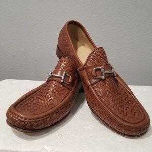 Mercanti Fiorentini 855 Woven Men Moc Toe Leather